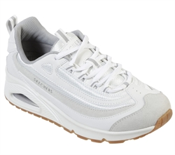 Skechers Womens UNO - Roundabout - 73678WHT